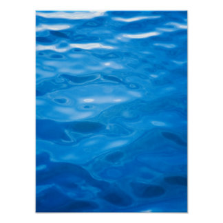 Blue Water Background - Customized Template Poster