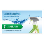 Blue Water Bubbles Cleaning Service Business Card