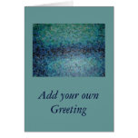 Blue Water Collage Greeting Cards