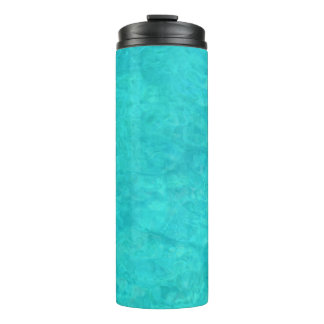 Blue Water Color Thermal Tumbler