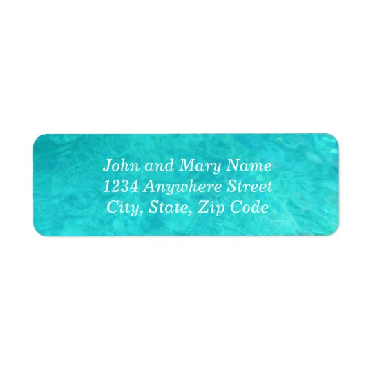 Blue Water Colour Address