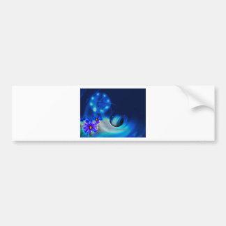 Blue Water Drop Bumper Sticker