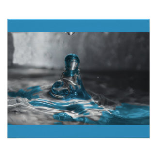 blue water drop poster