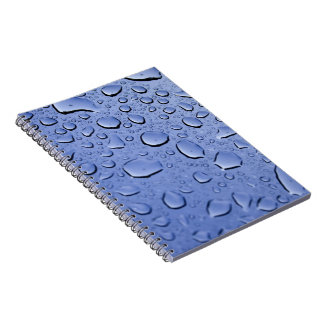 Blue Water Droplets Notebook