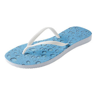 Blue Water Drops Flip Flops