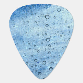 Blue Water Drops Guitar Pick