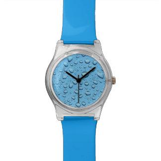 Blue Water Drops Watch
