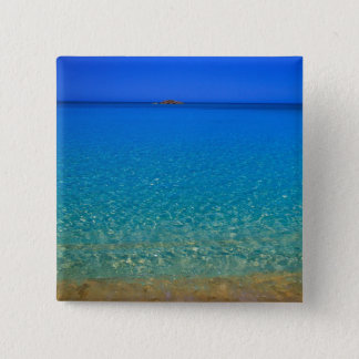 Blue water, Exuma Islands, Bahamas. 15 Cm Square Badge