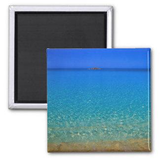 Blue water, Exuma Islands, Bahamas. Square Magnet