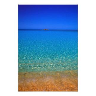 Blue water, Exuma Islands, Bahamas. Photograph