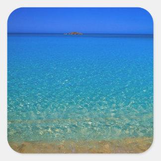 Blue water, Exuma Islands, Bahamas. Square Sticker