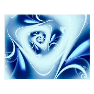 Blue Water Fine Fractal Art Postcard