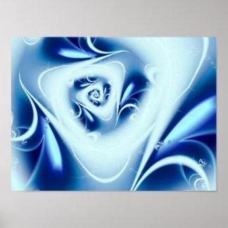 Blue Water Fine Fractal Art Poster