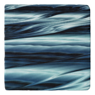 Blue water fractal abstract trivet