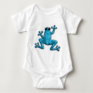 Blue Water Frog Baby Bodysuit