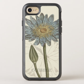 Blue Water Lily Botanical Illustration OtterBox Symmetry iPhone 7 Case
