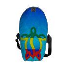 Blue Water Rasta Honu Messenger Bag