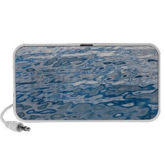 Blue water surface mini speakers
