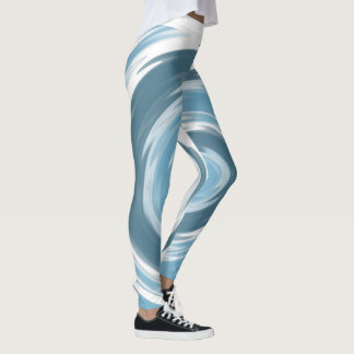 Blue Water Swirl Leggings
