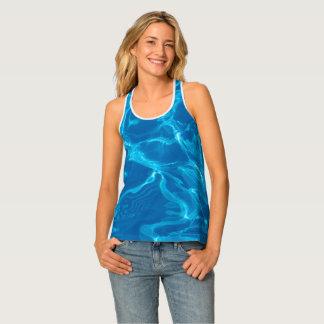 Blue water tank top