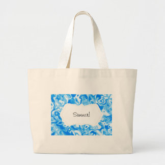 Blue Water texture Large Tote Bag