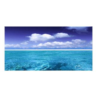 Blue Water Tropical scene Photo Print