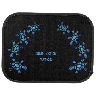 Blue Water Turtle Car Mat