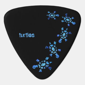 Blue Water Turtles Guitar Pick