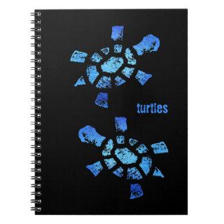 Blue Water Turtles Spiral Note Book