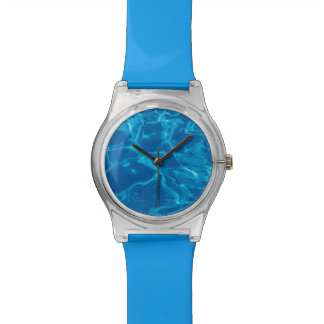 Blue water wristwatch
