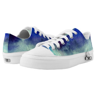 Blue Watercolor Art  Shoes