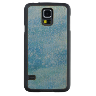 Blue Watercolor Background Carved Maple Galaxy S5 Case