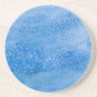 Blue Watercolor Background Coaster