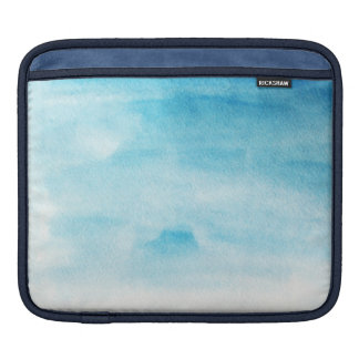 Blue watercolor background design iPad sleeve