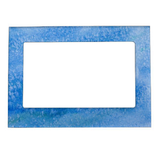 Blue Watercolor Background Magnetic Photo Frames