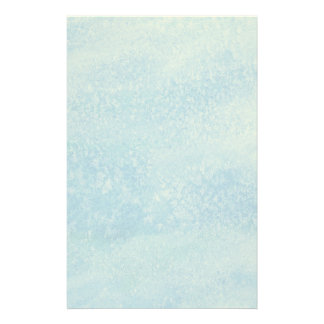 Blue Watercolor Background Stationery