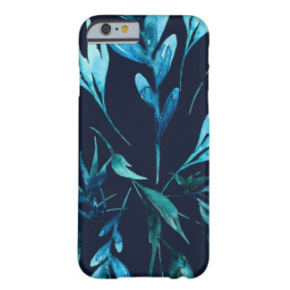 Blue Watercolor Botanical Elegant Chic Floral Barely There iPhone 6 Case