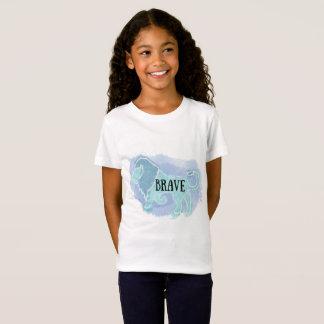 Blue Watercolor 'Brave' Lion Kid's Shirt