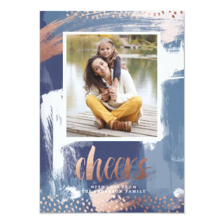 BLUE WATERCOLOR CHRISTMAS  Christmas Holiday Card 13 Cm X 18 Cm Invitation Card