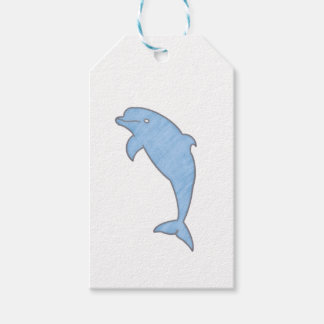 Blue watercolor dolphin gift tags