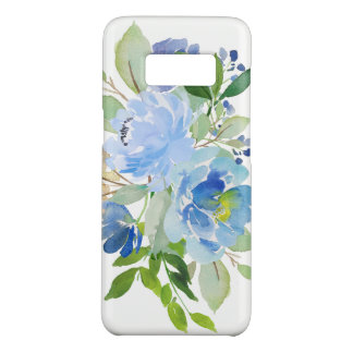 Blue Watercolor Floral Bouquet Case-Mate Samsung Galaxy S8 Case