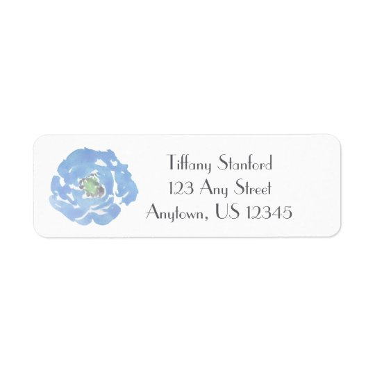 Blue Watercolor Floral   Personalised