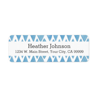 Blue Watercolor Geometric Pattern Chevron