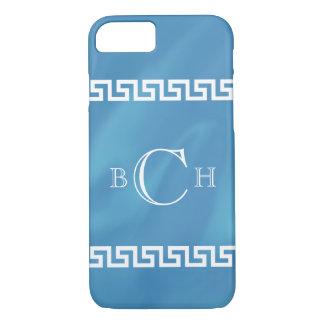 Blue Watercolor Greek Key iPhone 7 Case
