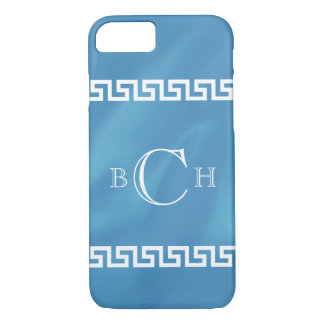 Blue Watercolor Greek Key iPhone 8/7 Case