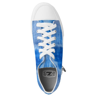 Blue Watercolor Heart Low Tops