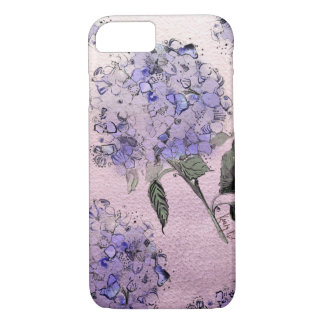 Blue Watercolor Hydrangea iPhone 7 case
