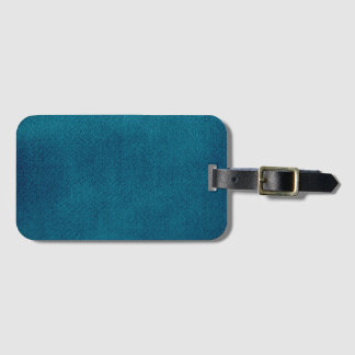 Blue Watercolor Luggage Tag