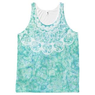 Blue Watercolor Mandala All-Over Print Tank Top