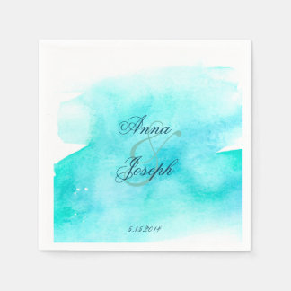 Blue watercolor Napkins Paper Serviettes